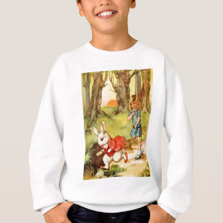 A WHITE RABBIT CAME RACING BY ALICE SWEATSHIRT