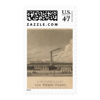 A Whitney and Sons' Car Wheel Works Postage