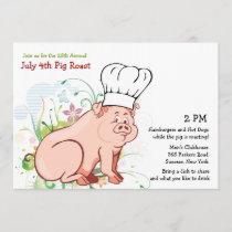 A Who Roast?  Pig Roast Invitation
