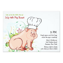 A Who Roast?  Pig Roast Invitation