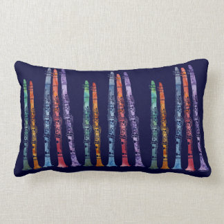 A Whole Band of Jazzy Clarinets Lumbar Pillow