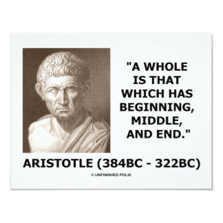 A Whole Is That Which Has Beginning, Middle, & End Card
