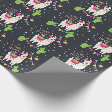 A Whole Llama Fun Llama Birthday Wrapping Paper