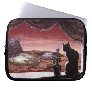 A Whole New World - Sci-Fi - Cat on Mars Computer Sleeve