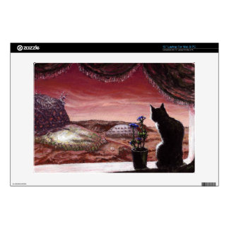 A Whole New World - Sci-Fi - Cat on Mars Decals For Laptops