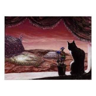 A Whole New World - Sci-Fi - Cat on Mars Posters
