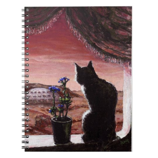 A Whole New World - Sci-Fi - Cat on Mars Spiral Notebook