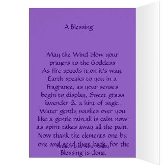 A Wiccan Blessing Card