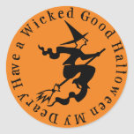 A Wicked Good Halloween Classic Round Sticker