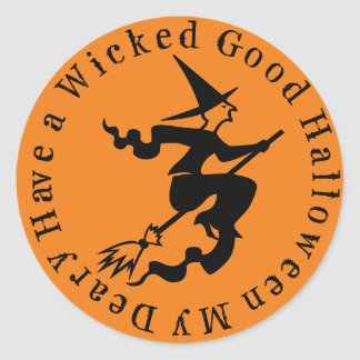 A Wicked Good Halloween Classic Round Sticker