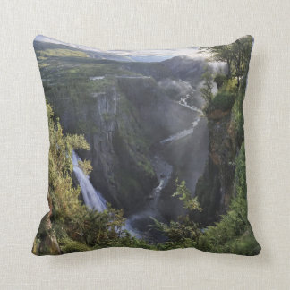 A wide evening view - Hordaland, Norway Throw Pillow