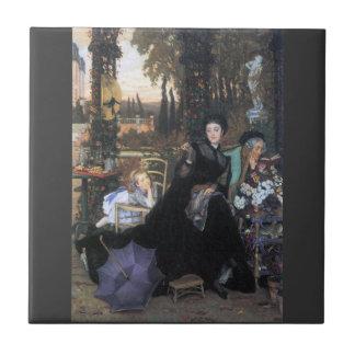 A widow by James Tissot Tile