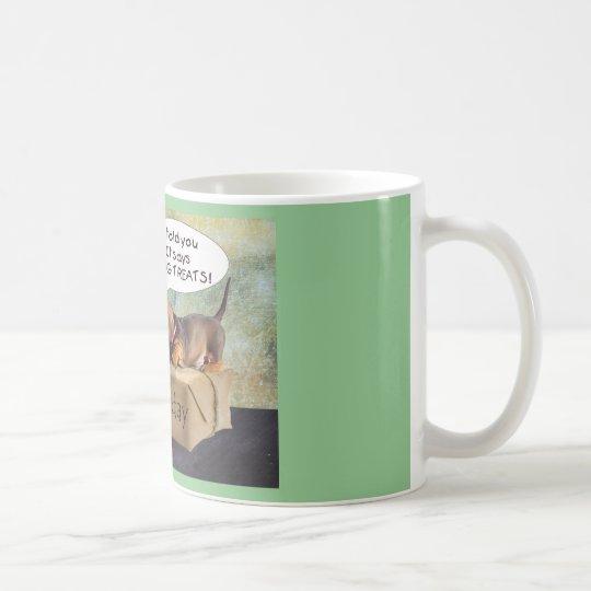 A wiener dog birthday coffee mug