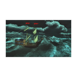 A Wild and Stormy Sea Canvas Print