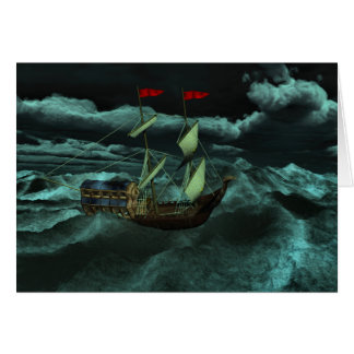 A Wild and Stormy Sea Card