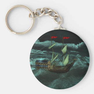 A Wild and Stormy Sea Keychain