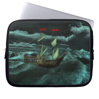 A Wild and Stormy Sea Laptop Sleeve