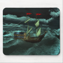 A Wild and Stormy Sea Mousepad