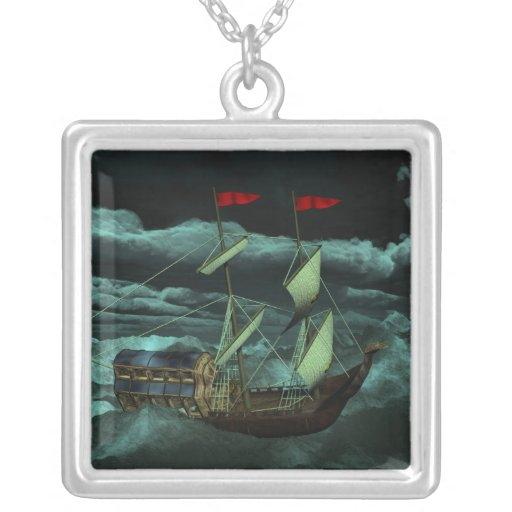 A Wild and Stormy Sea Necklace