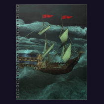 A Wild and Stormy Sea Notebook