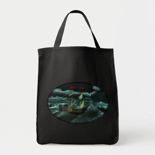 A Wild and Stormy Sea Tote Bag