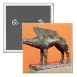 A wild boar, from Neuvy-en-Sullias 2 Inch Square Button