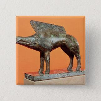 A wild boar, from Neuvy-en-Sullias Pinback Button