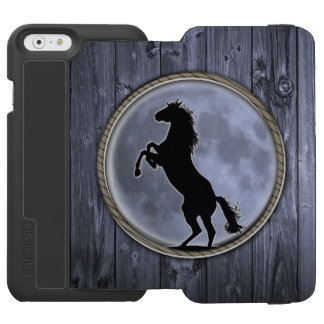 A wild Mustang rearing up iPhone 6/6s Wallet Case
