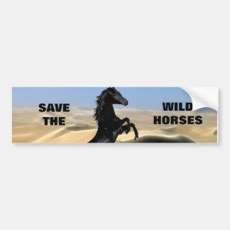 A wild rearing black stallion bumper sticker