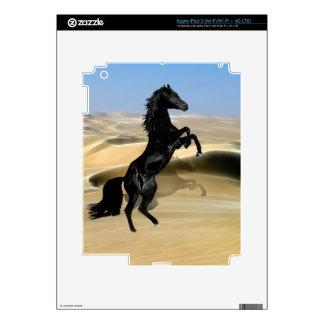 A wild rearing black stallion iPad 3 decal