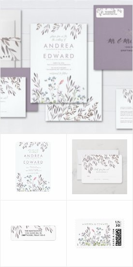 A Wildflower Wedding Invitations