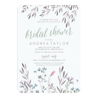 A Wildflower Wedding Bridal Shower Invitation
