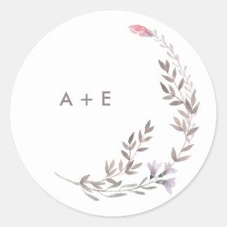 A Wildflower Wedding Classic Round Sticker