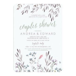A Wildflower Wedding Couples Shower Invitation