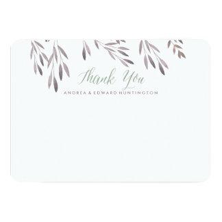 A Wildflower Wedding Flat Thank You Card