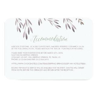 A Wildflower Wedding Hotel Enclosure Card