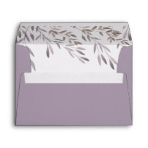 A Wildflower Wedding Matching Envelope