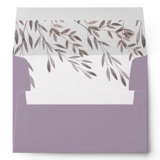 A Wildflower Wedding Matching Envelope