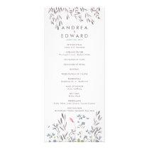 A Wildflower Wedding Program
