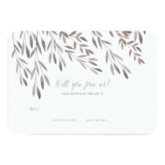 A Wildflower Wedding RSVP Card