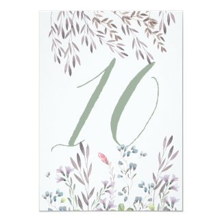A Wildflower Wedding Table No. 10 Double Sided Card