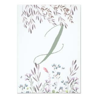 A Wildflower Wedding Table No. 2 Double Sided Card