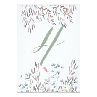 A Wildflower Wedding Table No. 4 Double Sided Card
