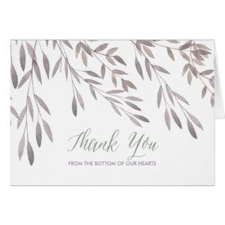A Wildflower Wedding Thank You Card