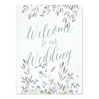 A Wildflower Wedding - Welcome Sign Card