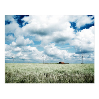 A wind farm postcard