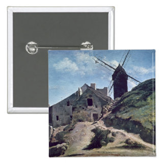 A Windmill at Montmartre, 1840-45 Button