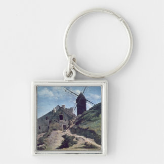 A Windmill at Montmartre, 1840-45 Keychain