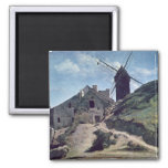A Windmill at Montmartre, 1840-45 2 Inch Square Magnet