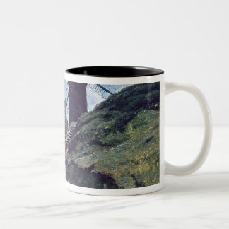 A Windmill at Montmartre, 1840-45 Two-Tone Coffee Mug